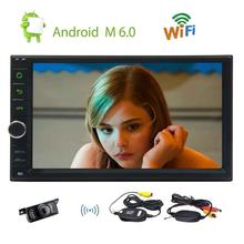 Wireless Reverse Camera Included Android 6.0 Stereo GPS Navigation Radio USB Automotive Head Unit Bluetooth Free Remote Control
