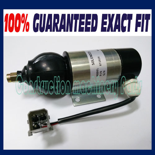 Fuel Shutdown Solenoid 872826,849370, 859079 12V For PERKINS, VOLVO 3924450 2001es 12 fuel shutdown solenoid valve for cummins hitachi