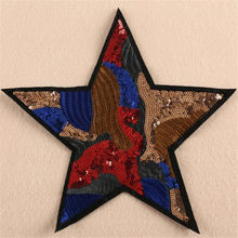 Clothing Women Shirt Top Diy Large Patch Star Color Sequins deal with it T-shirt girls Patches for clothes boy Cute 3D Stickers(China)