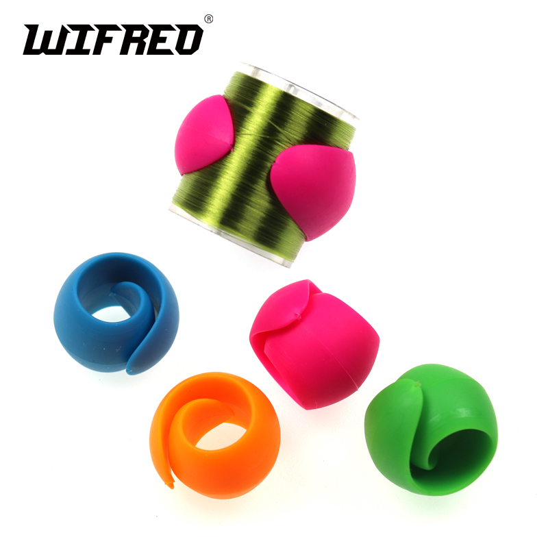 Wifreo 4PCS Fly Tying Silicone Thread Holder Spool Safe For Sportfish Tools Bobbin Holder And Threader Fly Tying Tool Accessory