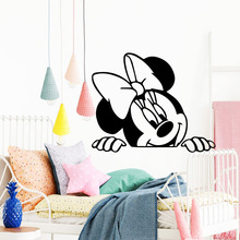 Free shipping Mickey mouse Wallpaper Home Decoration Wall Sticker Decor Living Room Bedroom Removable Sticker Mural free shipping 3d stereo courtyard scenery wallpaper bedroom living room decoration flower garden false window wallpaper mural