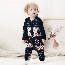 db6020 dave bella autumn new born baby girls boys knitted sweater romper infant toddler children stars printed clothes New Born Baby Clothes Christmas Knitted Infant Girls Rompers Long Sleeve Toddler Boys Jumpsuits Autumn Children's Overalls 0-24M