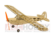 Balsa Wood Airplane Model J3 600mm Wingspan Balsa Wood Modelos de aviones cortados con láser RC Building Toys Woodiness model / WOOD PLANE