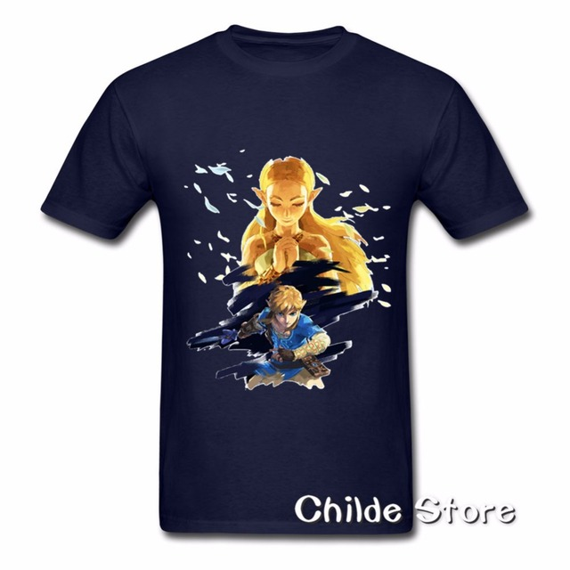 257022964b19 2018 Cheap Selling T-Shirt Mens The Legend of Zelda Breath of the Wild  tshirt Men Club 90s Pure Cartoon Cotton T Shirts Adult