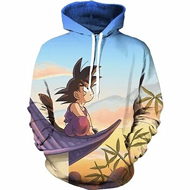 Cloudstyle Dragon Ball 3D Anime Hoodies Männer Kid Goku 3D Print Hut - Herrenbekleidung - Foto 2