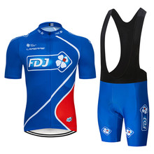 2019 Summer FDJ Pro Item Cycling jersey Bicycle Clothing Maillot Ropa Ciclismo MTB Bike Clothes Sportswear Suit BlUE