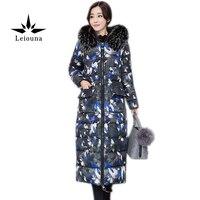 Leiouna 2019 New Winter Women Coat Big Size 3xl Woman Parka Thicking With Fur Hood Collar Jacket Warm Casaco Feminino Mujer