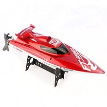F15277 FT012 2.4G Remote Control High Speed FT009 Upgraded Brushless RC Boat Racing Boat with 11.1V 1800mAh Battery Red