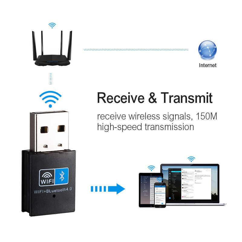 USB Wi-Fi Bluetooth адаптер V4.0 Беспроводной сетевая карта Wi-Fi антенный передатчик PC Wi-Fi Локальной сети Интернет ресивер 802.11b/g/n TEROW