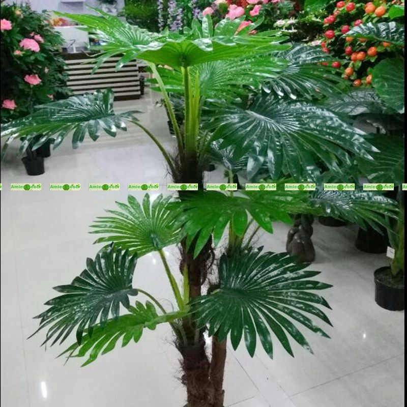 Grand 1.3 m Latex 3 tronc plante artificielle ventilateur cocotier phénix faux arbre mariage intérieur extérieur décoration de la maison pas de Pot