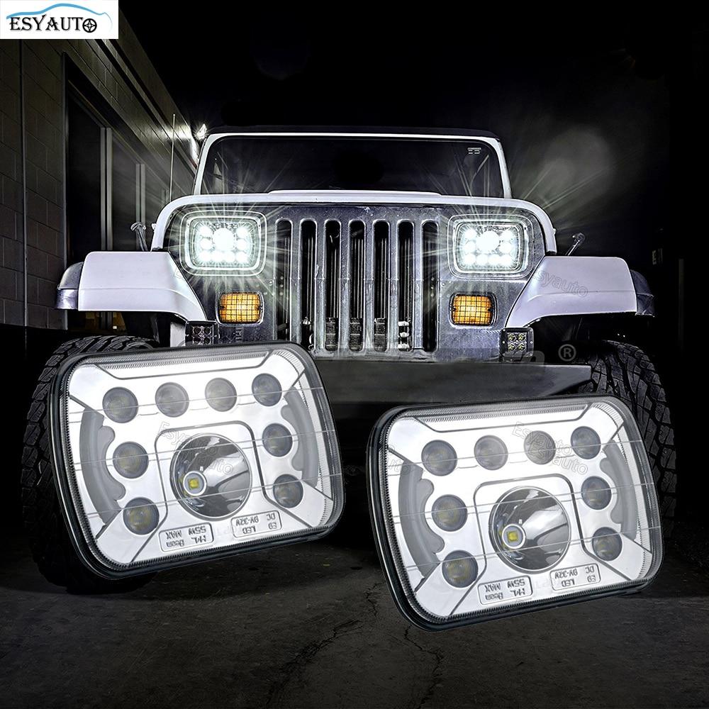 7X6 5X7'' inch Rectangle Led Headlight 55W Truck headlight 40W 6500K H4 Headlight H4 Replacement headlamp for 12V 24V Vehicle
