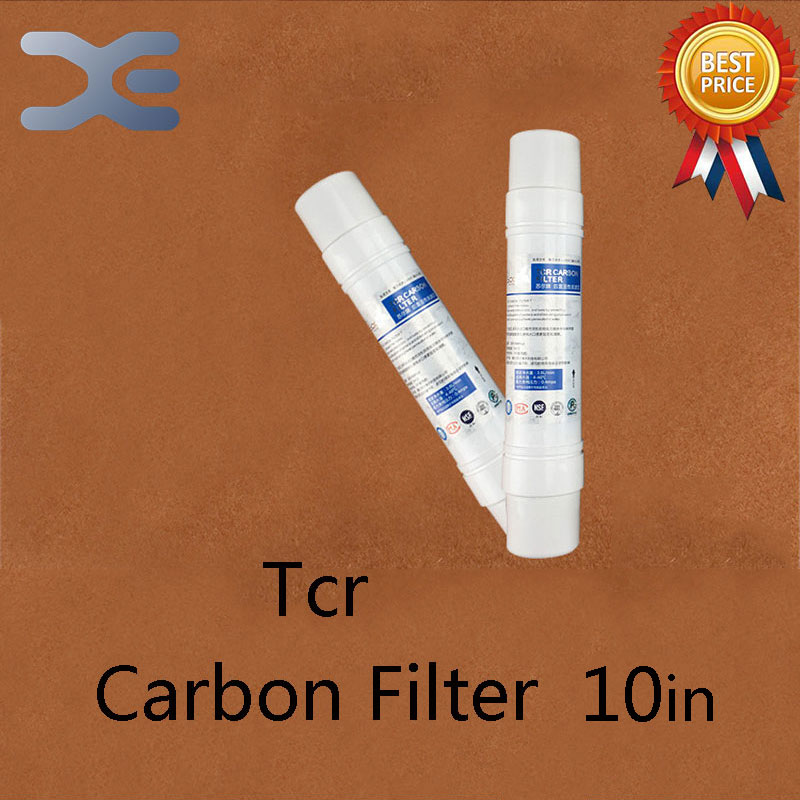 10in One Quick Access To Small T33 Rear Activated Carbon Filter Coconut Shell Water Purifier Filter Accessories factory outlets 11 inch one quick connector outlet water purifier to increase ph alkaline common water filter