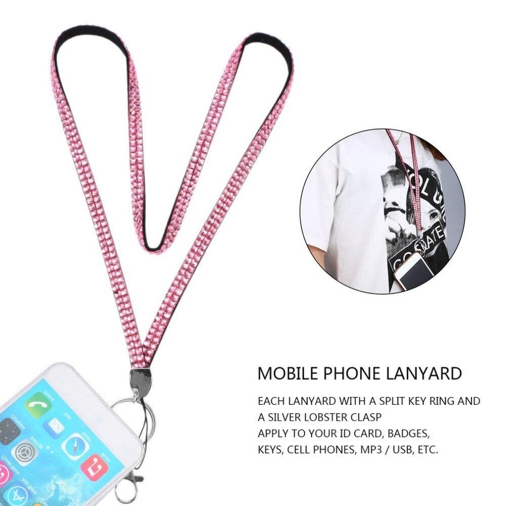 Onleny Rhinestonek Strap Lanyards /& ID Badgephone Key Holder Ring Mobile Phone Strap Crystal Bling,Green