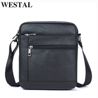 WESTAL Genuine Leather Men Bag Male Messenger Bag Men Leather Shoulder Bags Men S Crossbody Bags
