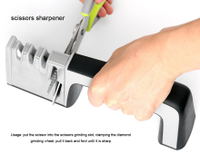 Portable Knife Sharpener System Steel Ceramic Diamond Kitchen Tools Household  Non-Slip Blade Sharpening 5MD021