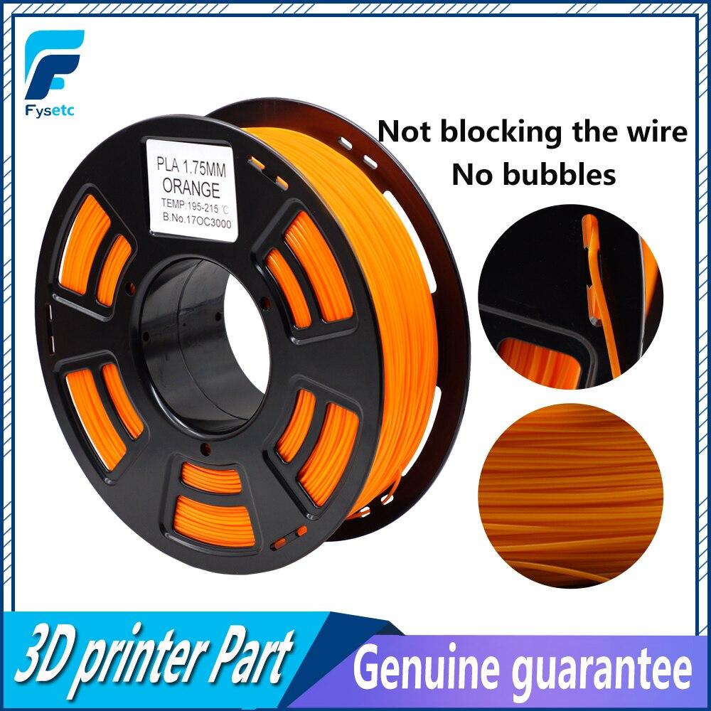 Orange PLA Filament 1.75mm 1kg/2.2lbs 3D Printer Filament Materials Plastic For Anet A8 /Wanhao/Makerbot 3D Printer Top Quality 3d printer filament brown colour environmentally friendly plastic materials for 3d printer