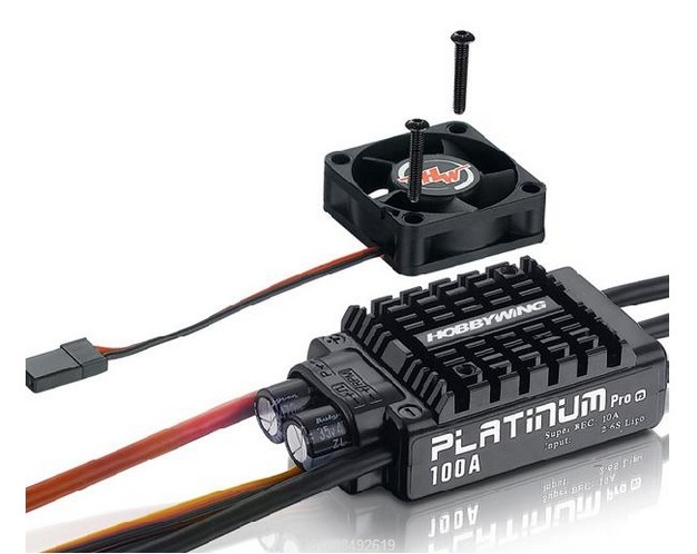 1PC HobbyWing Platinum 100A V3 ESC Low/High Pressure Electric Speed Controller Regulator Adjuster for RC Aircraft 1pcs original hobbywing platinum 100a v3 high performance esc for align trex 550 600 700 rc helicopter fixed wing esc