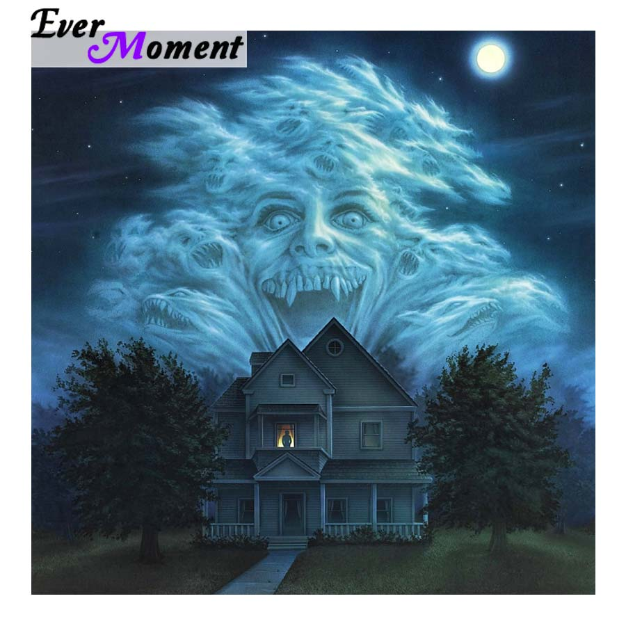 Ever Moment Diy Diamond Painting Cross Stitch Fright Night Horror 5d Embroidery Rhinestones Diamond Fear Wall Painting Asf922 Suitable For Men Women And Children