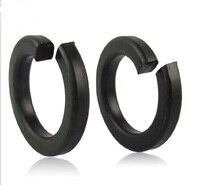 500pcs/Lot M6 Spring Washer Grade 8.8 Carbon Steel Black Split Lock Washer Spring Gasket Cushion Pad Ring