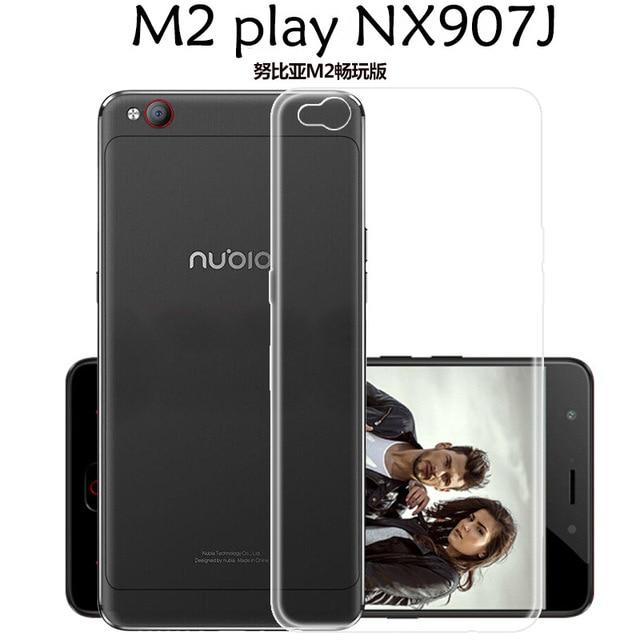 the best attitude e6e1c 4e9af US $5.99 5% OFF|ZTE Nubia M2 play Edition , NX907J Soft silicone  transparent clear case cover 5.5
