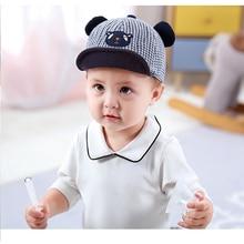 2019 new summer baby hat childrens cute male girl plaid bear fashion