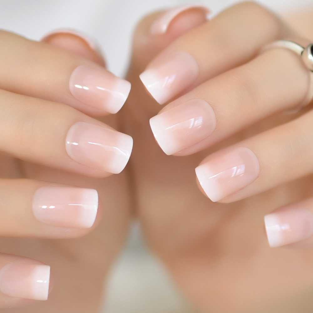 Detail Feedback Questions About Pink Nude White French Fake Nails
