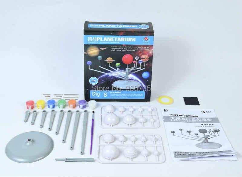 New Solar System Planetarium Scaleรุ่นจำลองประกอบเพื่อการศึกษาการเรียนรู้ของเล่นMontessori Aeromodeloสำหรับเด็ก
