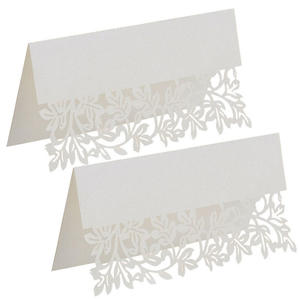Top 10 wedding greeting card messages brands 10pcslot wedding party decor table white greeting card m4hsunfo