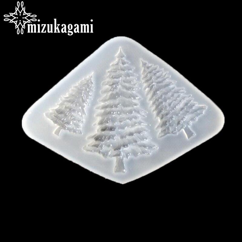 1 Stücke Uv Harz Schmuck Flüssigkeit Silikon Form Transparent 3d Weihnachten Baum Silikon Form Für Diy Schmuck Herstellung Form