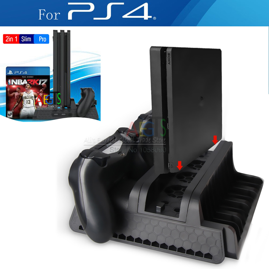 Circuito Flexible Ps4 : Vertical stand for ps slim ps ps pro with cooling fan in
