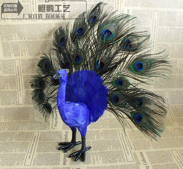 simulation colourful peacock model,polyethylene&fur large 40cm handicraft toy for home decoration 2019