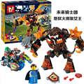 LEPIN 14011 265 Pcs Nexu Cavaleiros Rainha Figuras Blocos de Construção Figuras Brinquedos