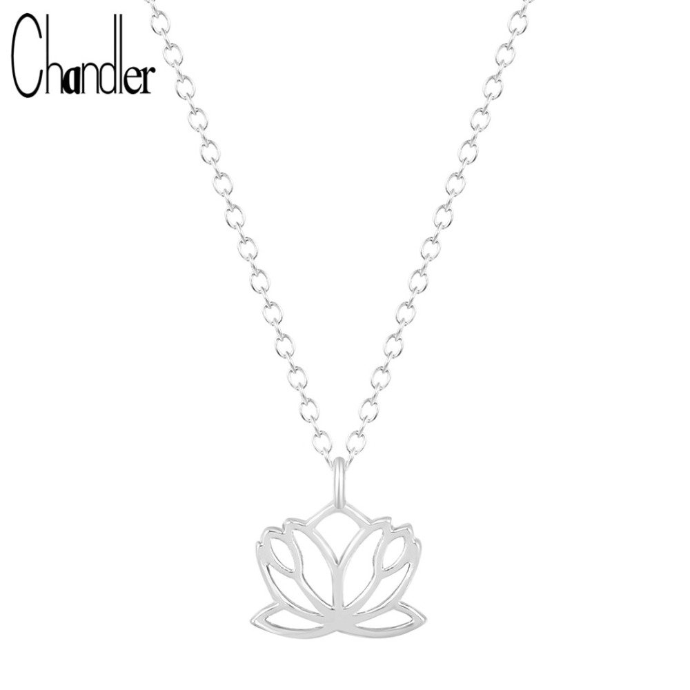 Aliexpress Buy Chandler Gold Silver Lotus Flower Necklace