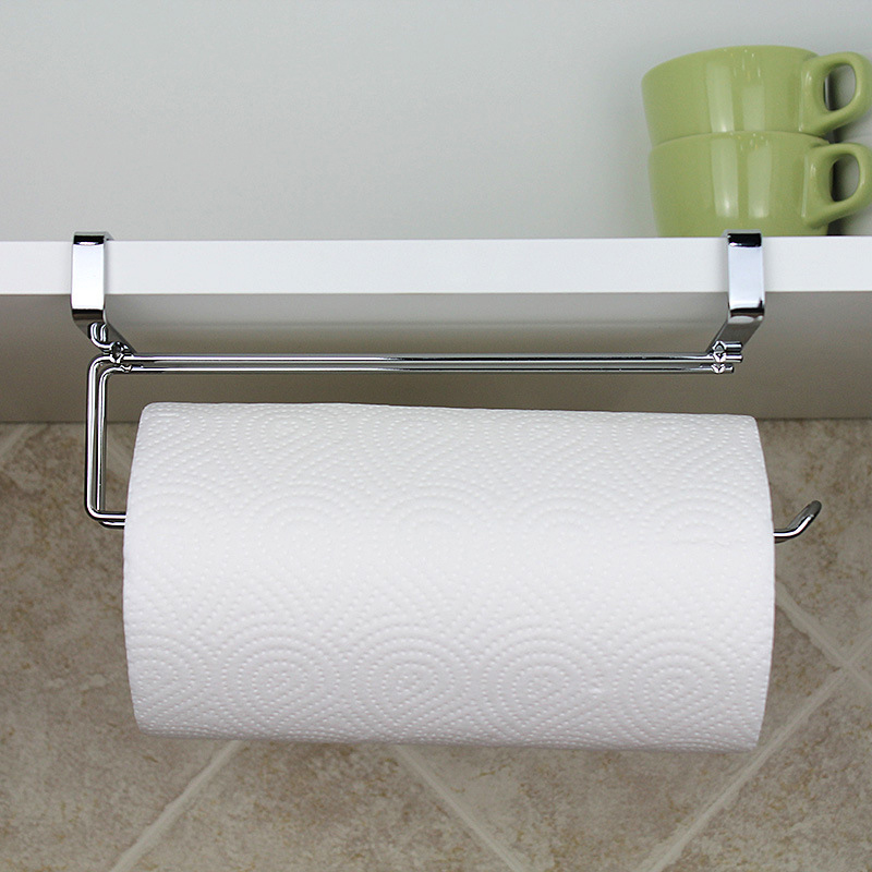 Kitchen Portable Paper Towel Rack Paper Towel Roll Holder Cabinet Hanging Shelf Organizer