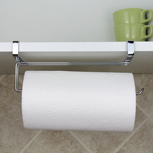 Kitchen Portable Paper Towel Rack Paper Towel Roll Holder Cabinet Hanging Shelf Organizer Bathroom Kitchen Accessories #233585(China)