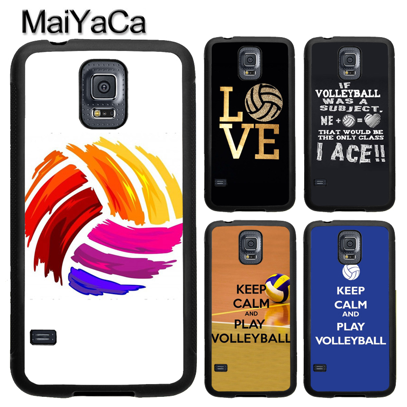 MaiYaCa Keep Calm Play Volleyball Sport For Samsung S7 S4 S5 S6 edge S9 S8 Plus Note 8 Note 4 Note 5 Phone Case Coque Protector