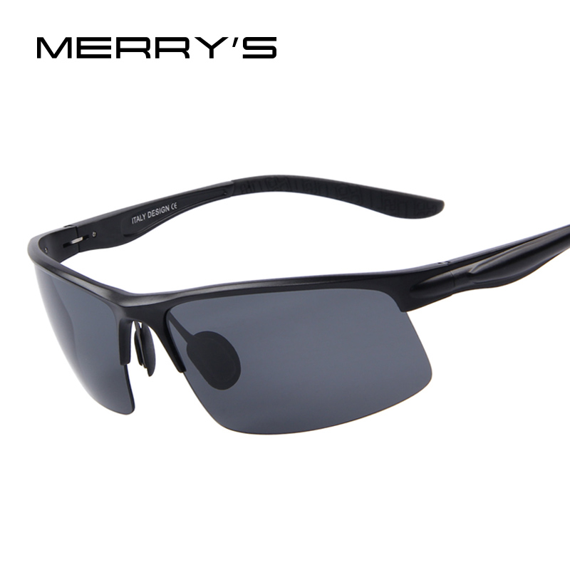 MERRY'S Men Goggle Polarized Sunglasses Aluminum Frame Sunglasses Oculos de sol UV400
