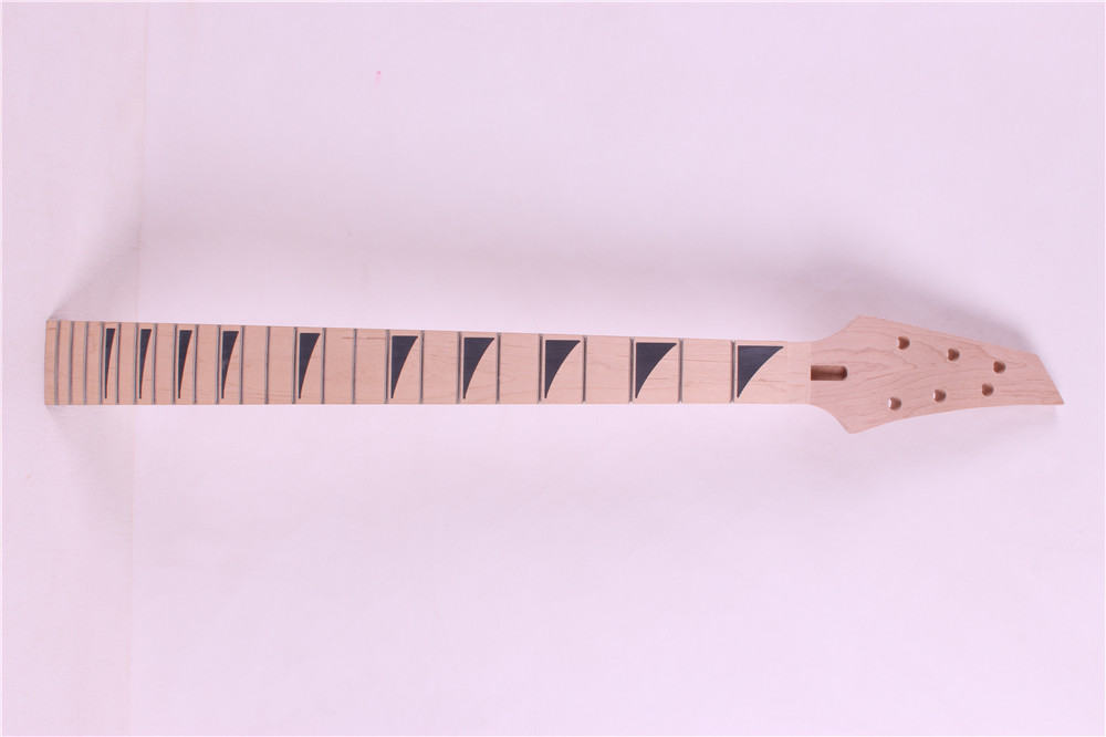 1pcs   NEW high quality   Unfinished electric guitar neck   MAPLE MADE WHITE  Fretboard 4# 24 fret BLACK INLAY туалетная вода davidoff the brilliant game 40 мл
