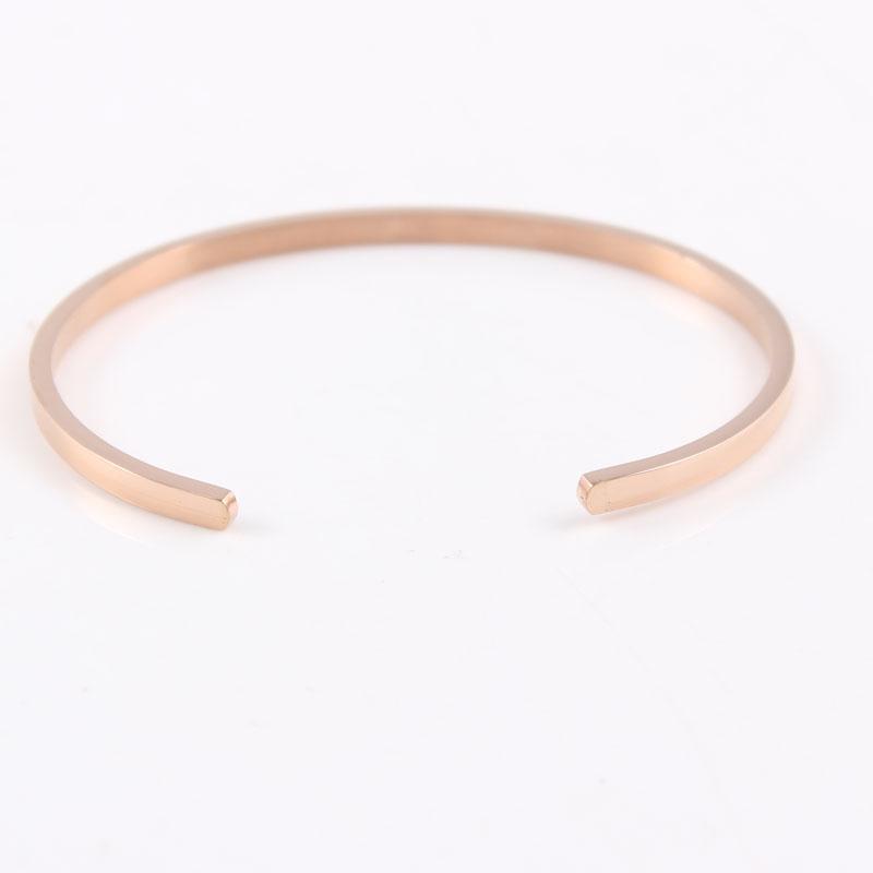 062b710718d2 De alta calidad de acero inoxidable grabado citas de inspiración brazalete  Mantra pulseras para las mujeres mejor regalo brazalete pulseras brazaletesUSD  ...