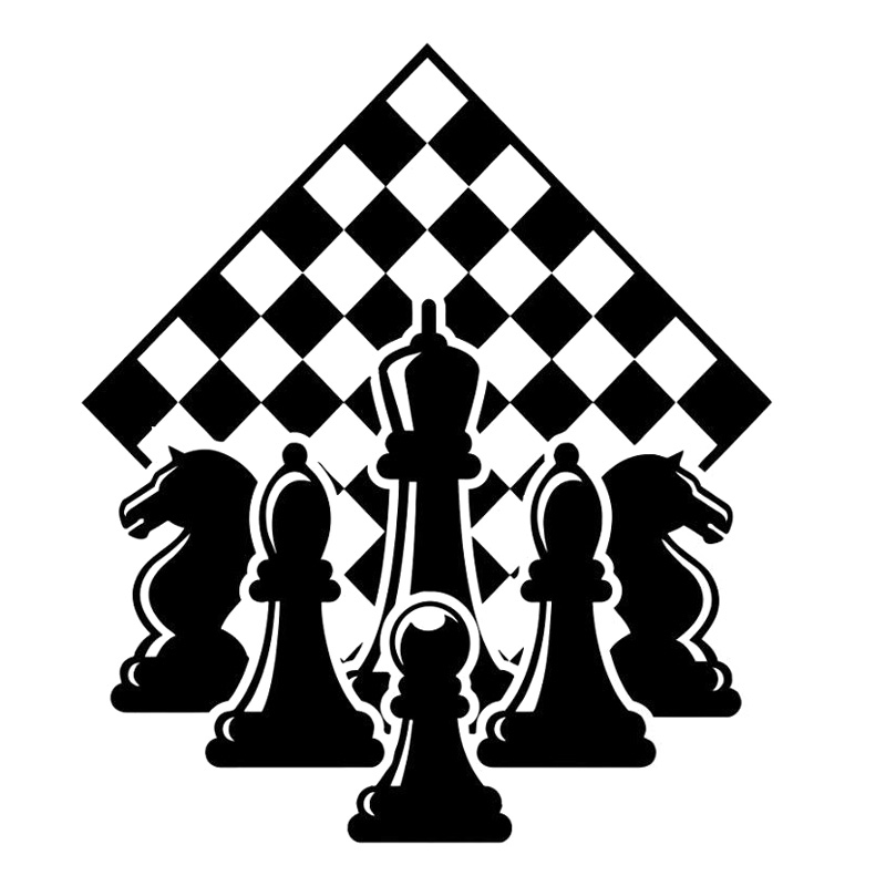 14.4cm*16.7cm Chessboard Car Accessories Decor Vinyl Car Sticker Black/Silver S3-6091