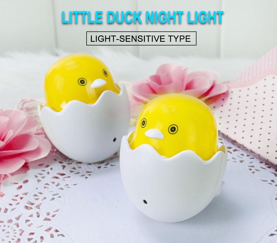 Lovely EUUS Plug Yellow Duck LED Night Light Lamp Wall Socket Light (1)
