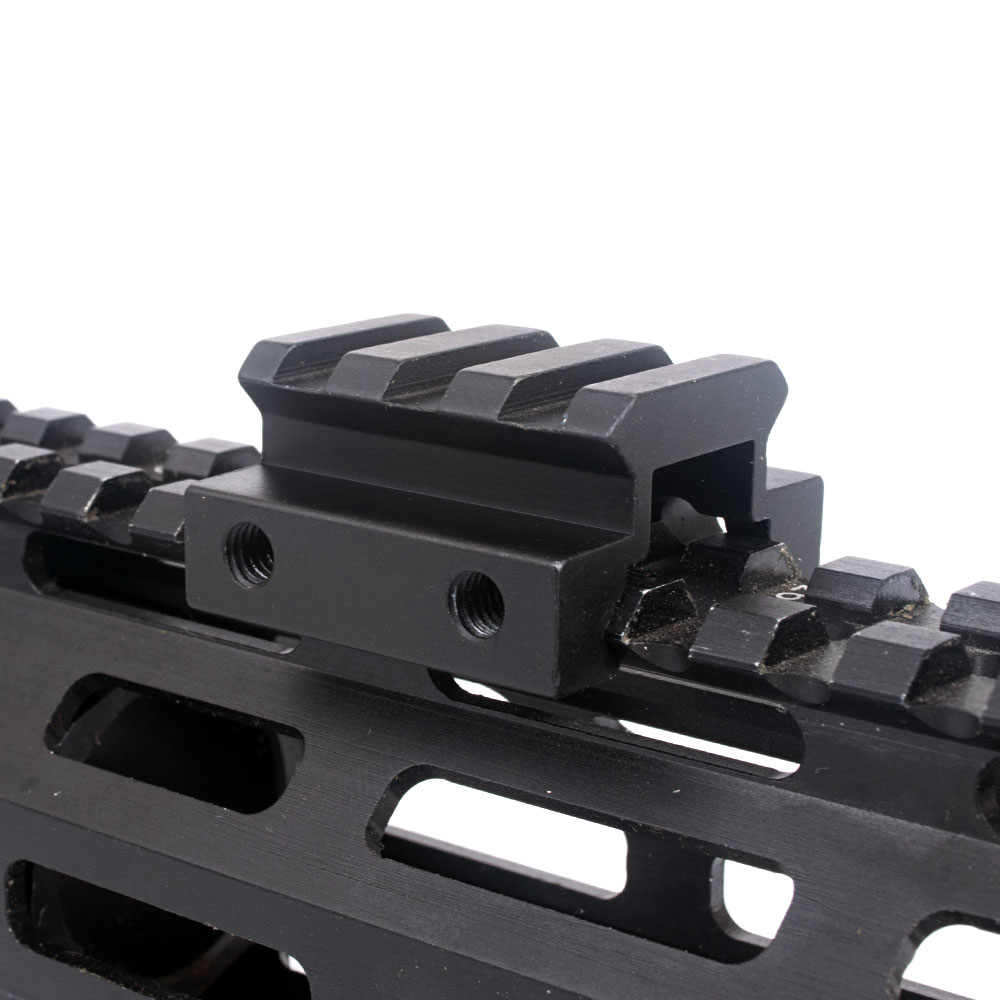 """WIPSON 1/2 """"3 スロット低ライザーウィーバーピカティニーレールライフルマウントスコープマウントレール 20 ミリメートル狩猟ベースアダプタライフル銃エアガン Caza"""