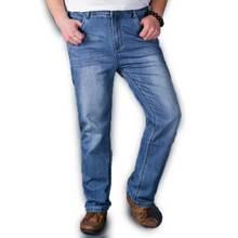 Регулярный Мужская Плюс Размер Джинсы Тонкий Голубой Джинсовой Весна Лето Одежда для Мужчин 30-48