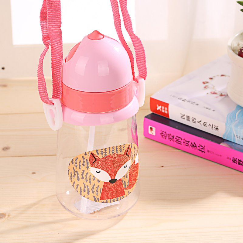 350ml Infant Baby Drinking Cup Straw Portable Rope BPA Free kid Feeding Bottles Sippy ba ...