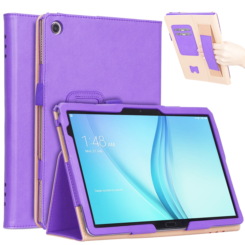 30Pcs Luxury Book Flip Cover Case For Huawei Mediapad M5 Lite BAH2-L09 BAH2-W19 DL-AL09 10 10.1
