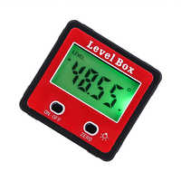New Mini Red Precision Digital 2-key Inclinometer Level Box Protractor Angle Finder Gauge Meter Bevel Box With Magnet Base