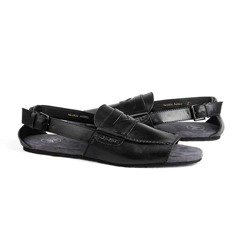 9da4ab97bae4ca ... Italian New Summer Buckle Strap Gladiator Sandals Men Genuine Leather Casual  Flats Shoes Beach Slippers Plus ...