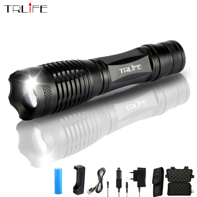 Ultra Bright V6/L2/T6 10000LM LED Torch Flashlight Zoomable LED Flash Light Lanternas For 3xAAA or 1x18650 Battery Free Shipping все цены