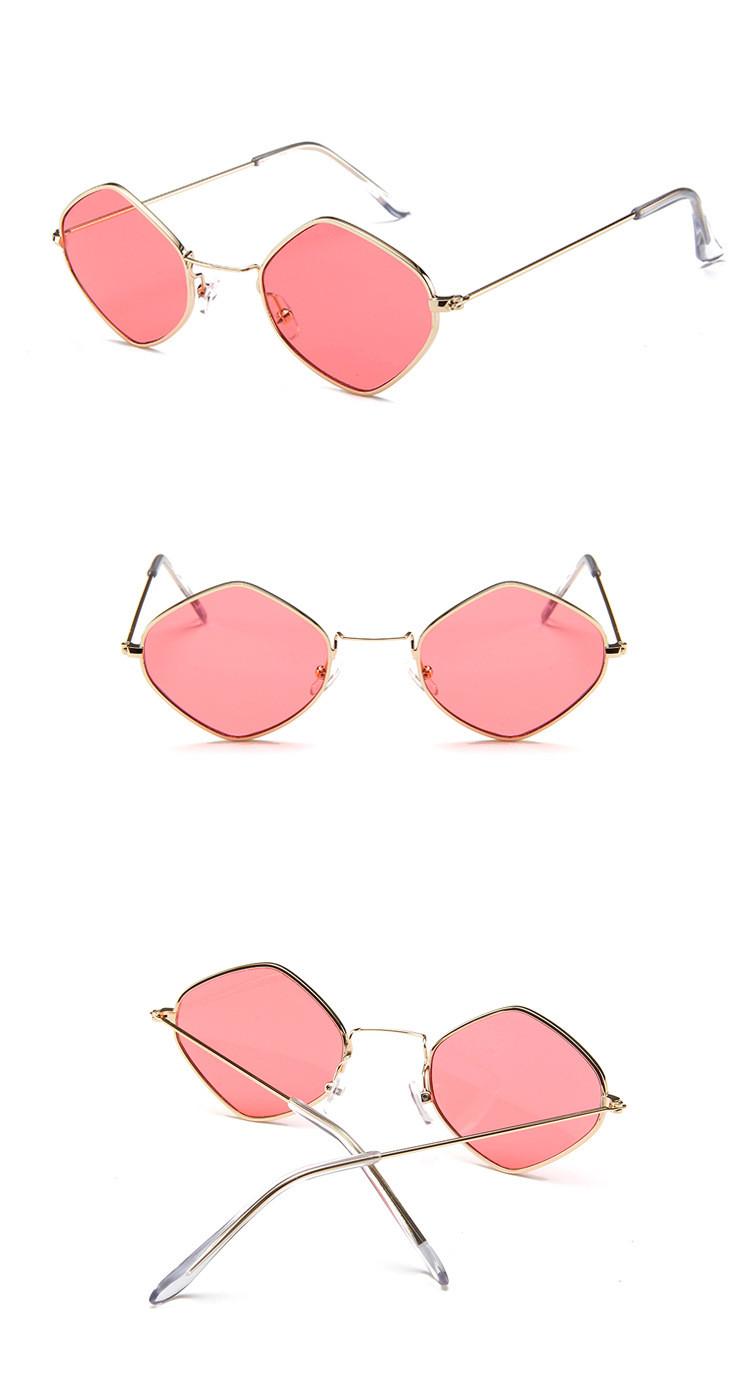 HTB1DX4GSpXXXXcNXpXXq6xXFXXXO - Rhombus Metal Framed Sunglasses Retro Small Size Lens PTC 223