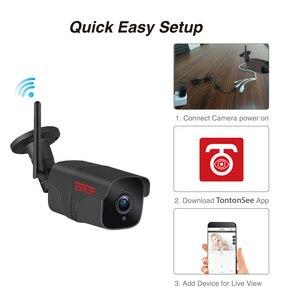 Image 3 - Tonton wi fi câmera ip em dois sentidos de áudio ao ar livre 1080 p 720 p à prova dwireless água sem fio câmera segurança metal tf cartão registro p2p sony sensor